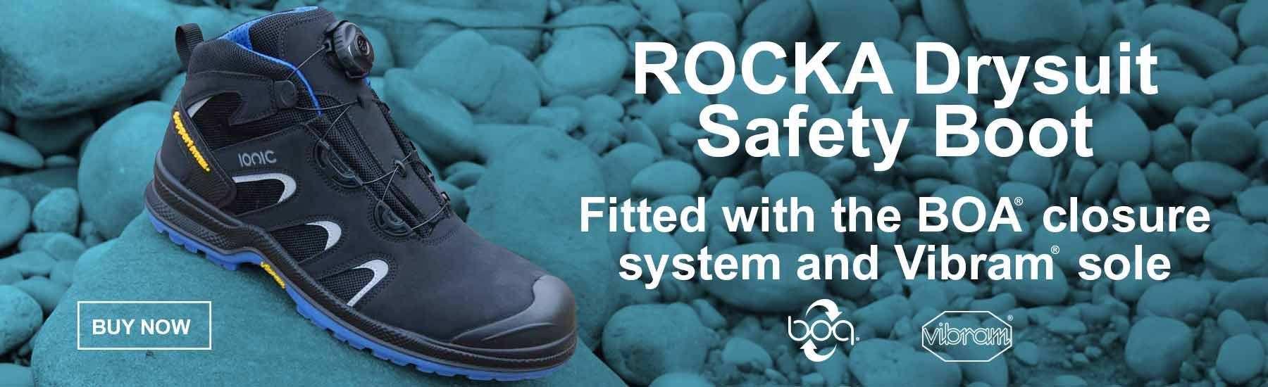 Ionic Rocka drysuit safety boot by safequip